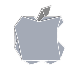 Apple Logo Origami Icon, PNG ClipArt Image