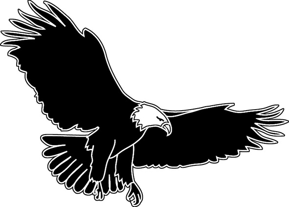 clip art soaring eagle - photo #50