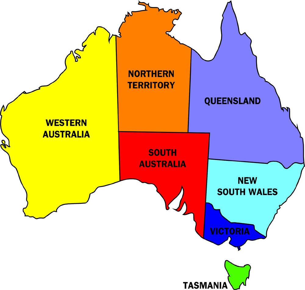 vector map of australia weather today