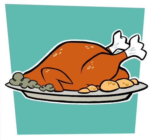 Turkey dinner pictures cartoons