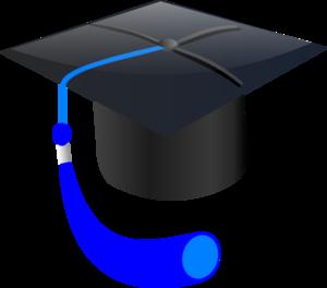 Blue Graduation Cap clip art - vector clip art online, royalty ...