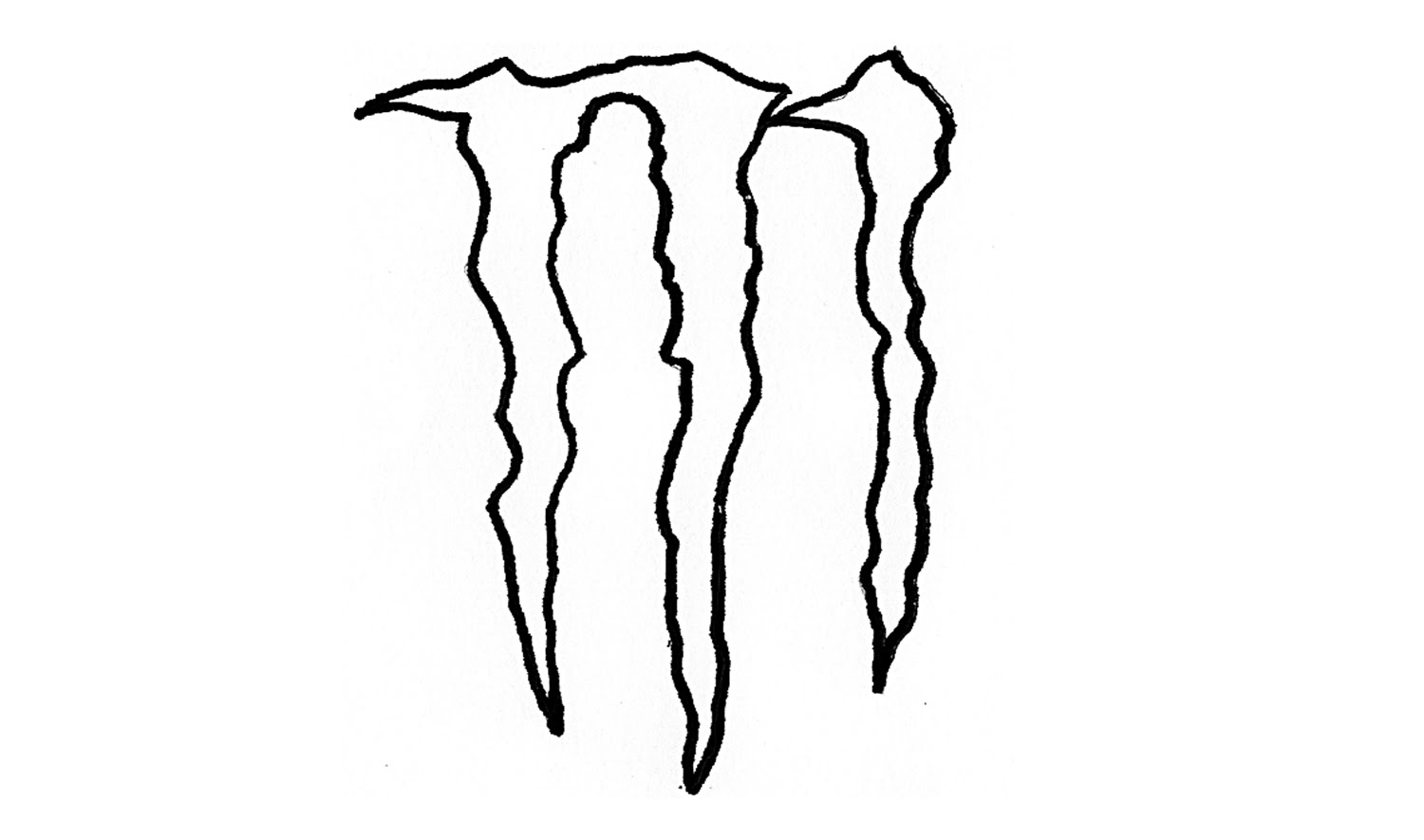 How to Draw the Monster Energy Logo (symbol) - YouTube