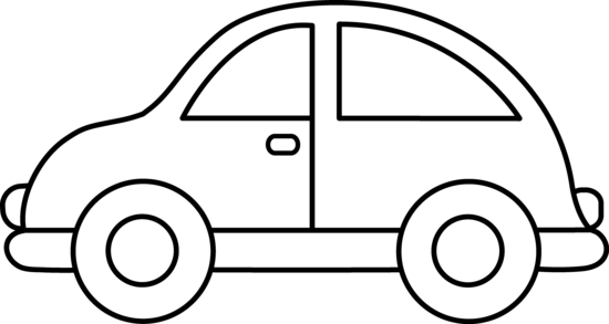 Clipart black and white car