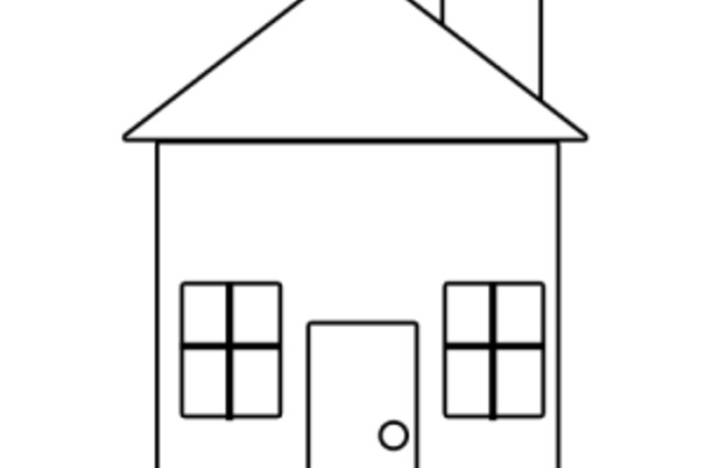 Simple Drawing Of A House Clipart Best