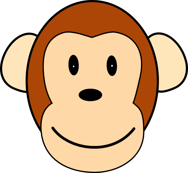 Monkey Face Drawing - ClipArt Best