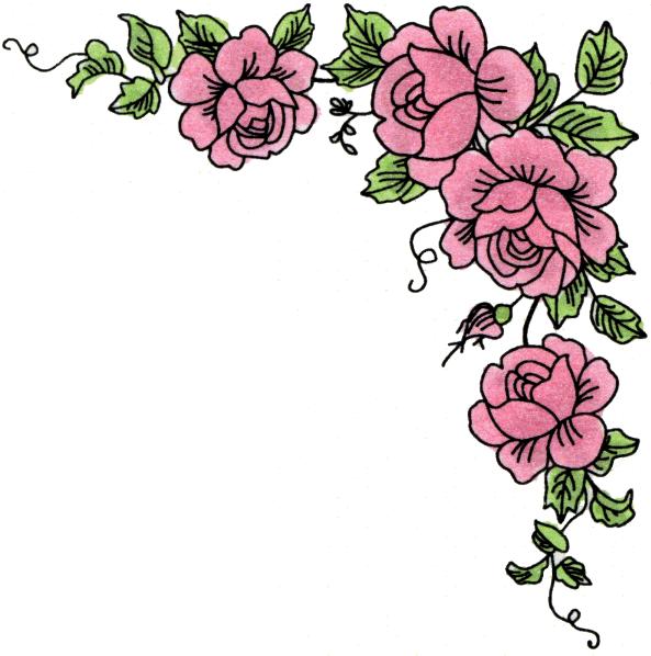 Flower Corner Border - ClipArt Best