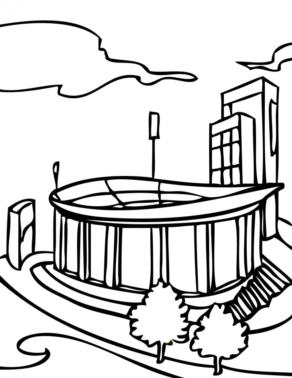 Football Field Coloring Page - Free Clipart Images