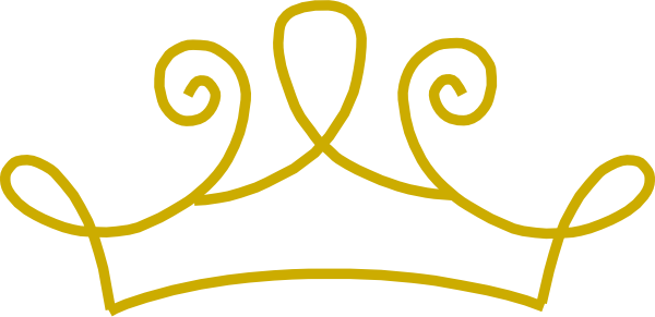 Gold princess crown clipart
