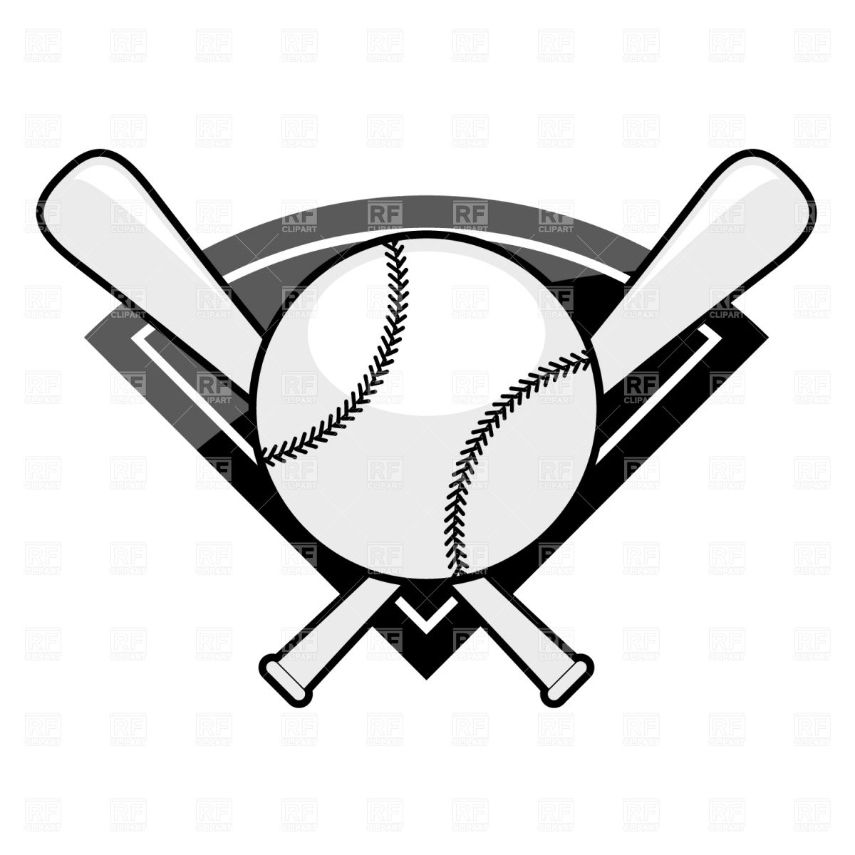 Baseball clipart vector free