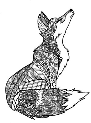 Zentangles Of Animals