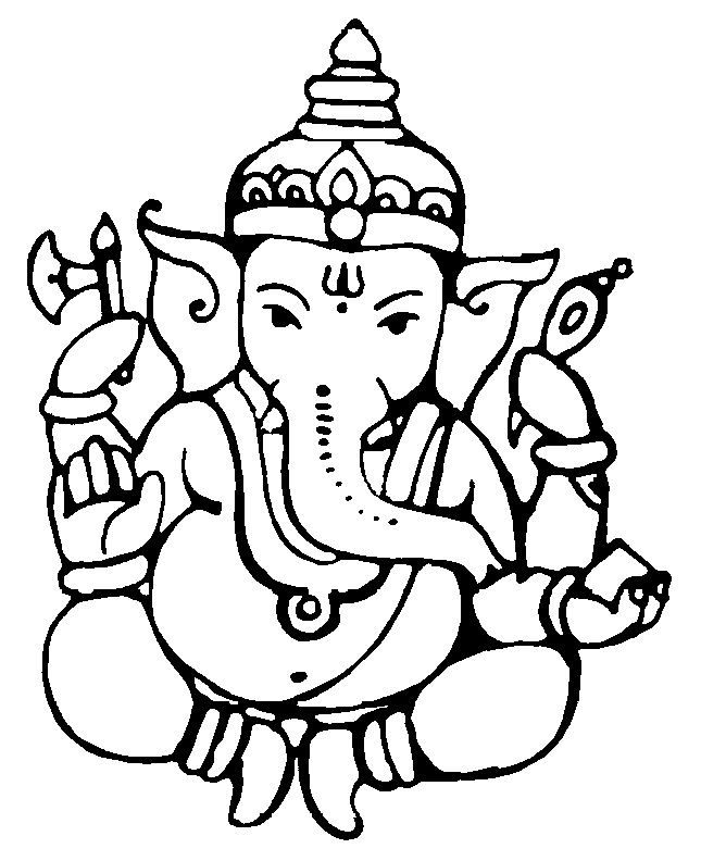 Ganesh Line Drawing : Lord ganesh photos download cake clipart best