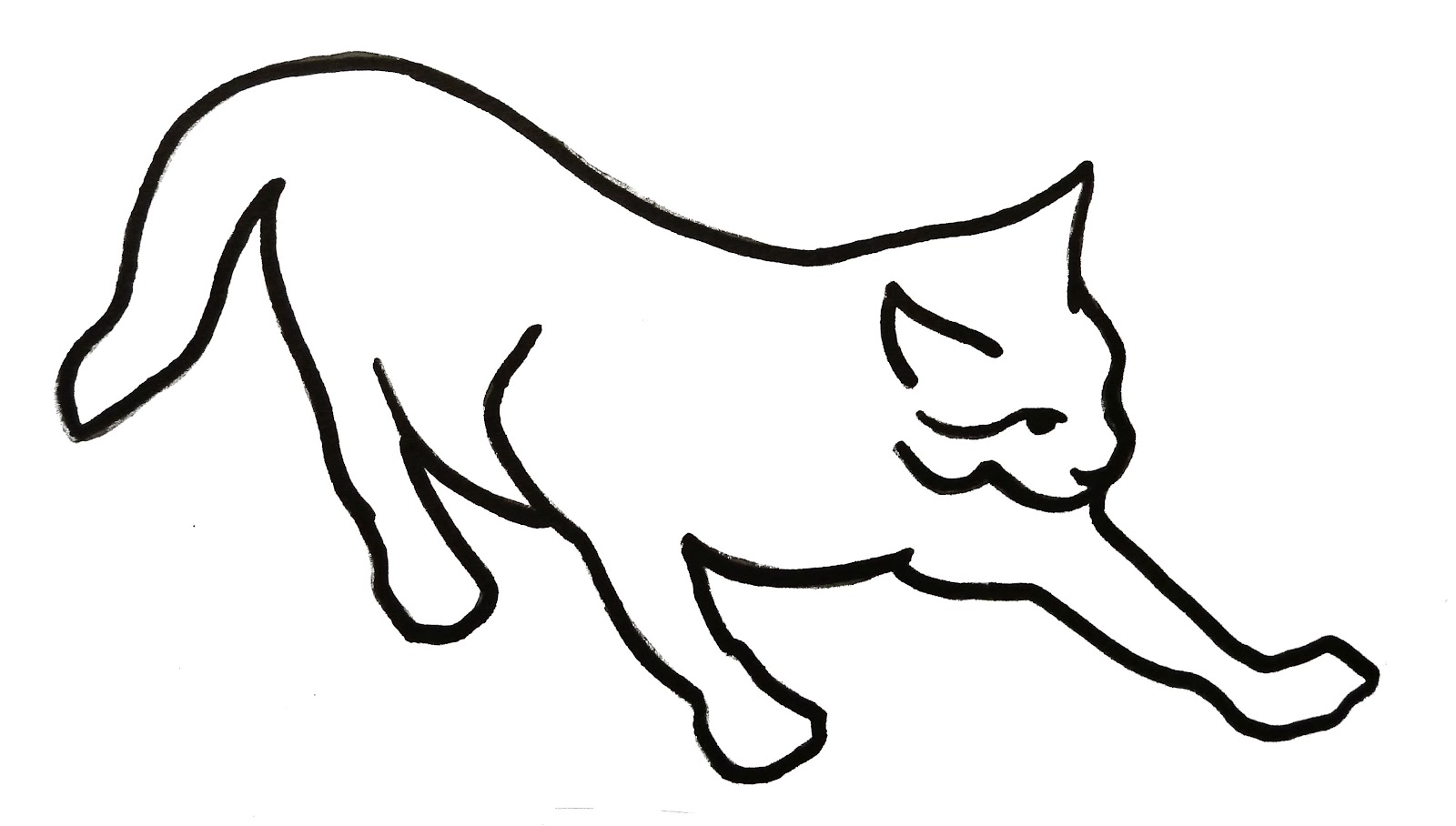 Line Drawing Kitten : Drawings of cats clipart best