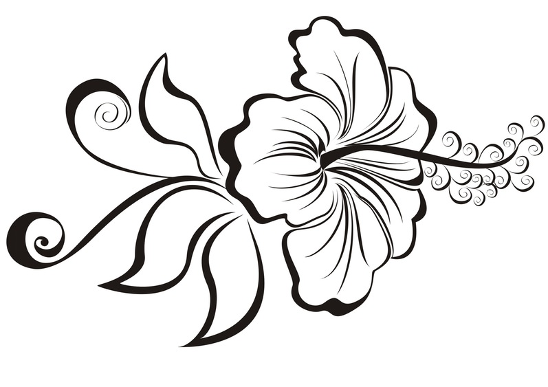 Hibiscus Tattoos Black And White - ClipArt Best