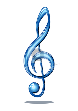 music note in blue clipart best