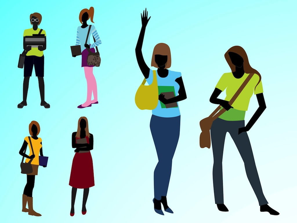 Fashion Girl Clipart Fashionable Girls