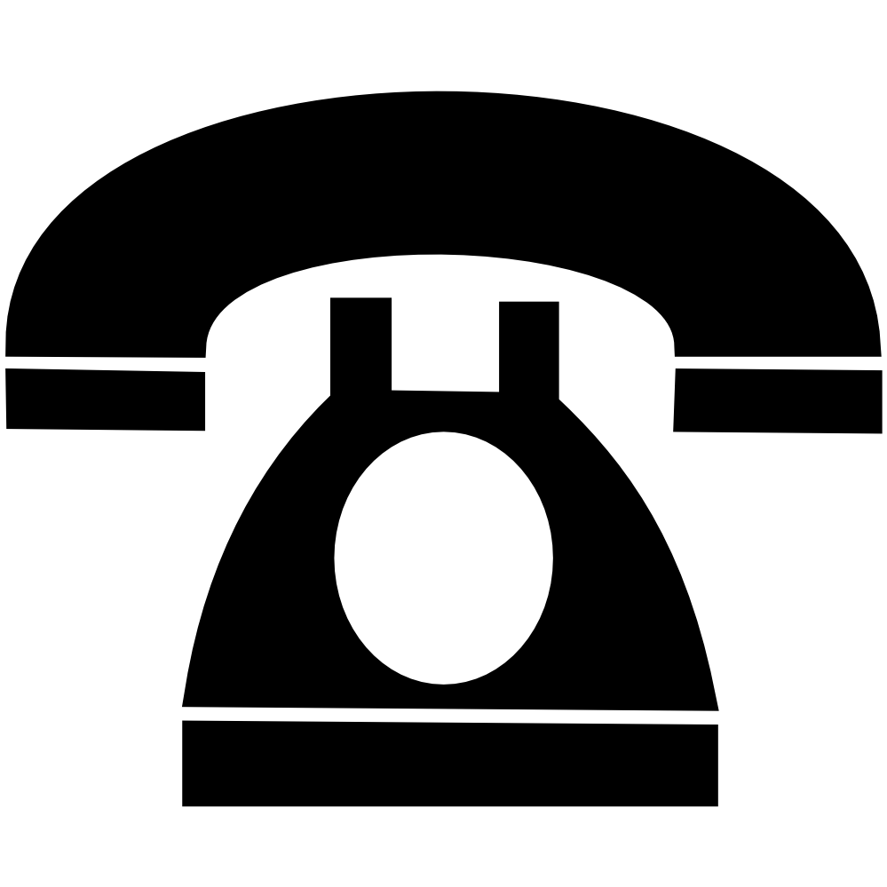 telefon phone sign SVG 4(K)