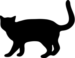 Cat Walking Clip Art