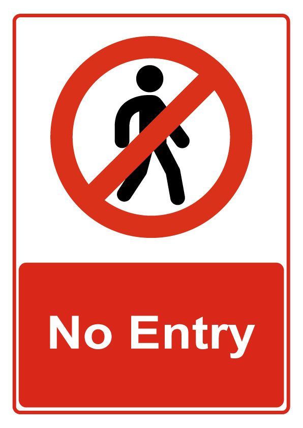 No Entry Sign From Bar Activity Clipart Best Clipart Best