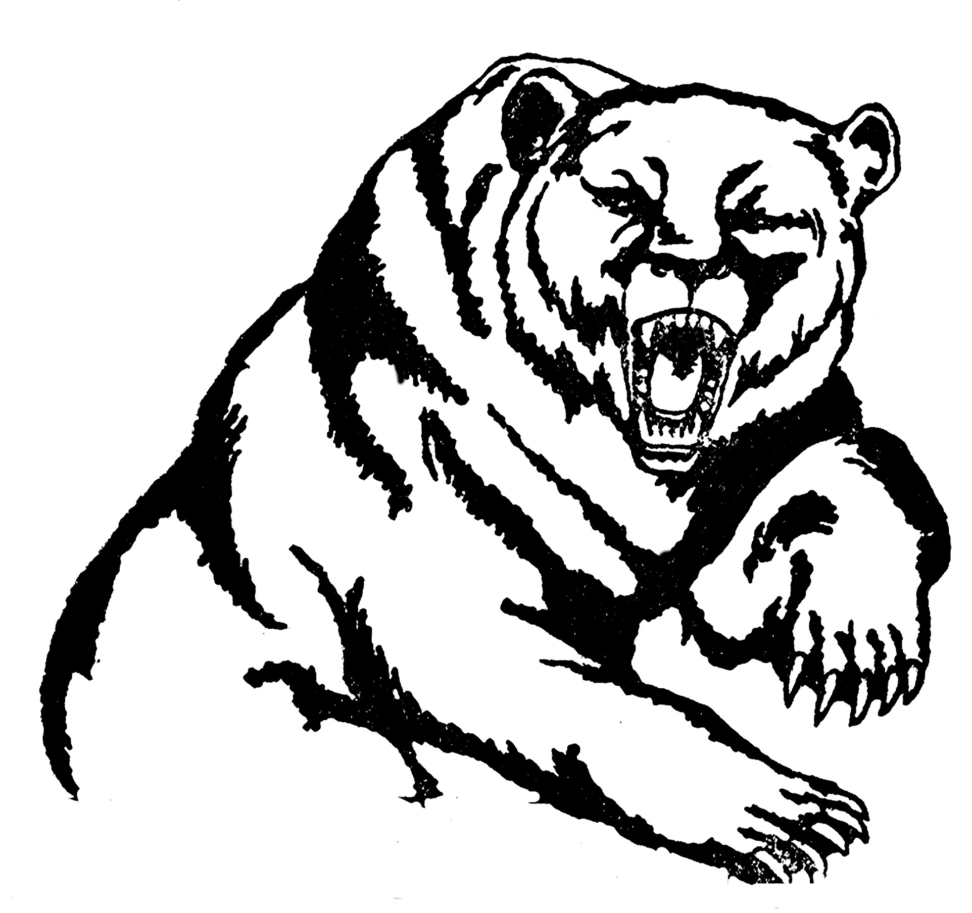 Grizzly Bear Line Art Description of the clipartRoaring Bear Clip Art