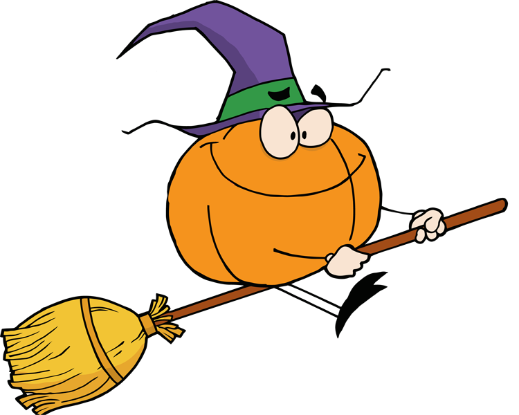 Witch Broom Clip Art Clipart witchesWitch On Broom Clip Art