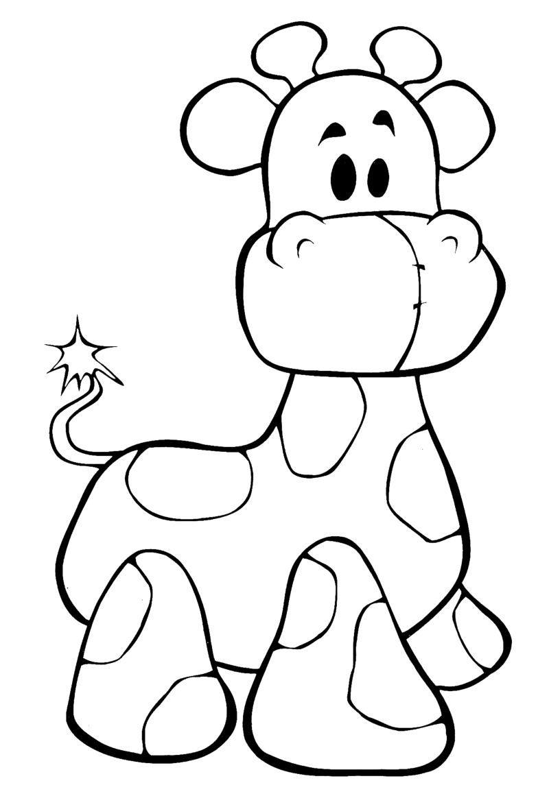 cute giraffe coloring pages - baby giraffe drawings clipart best