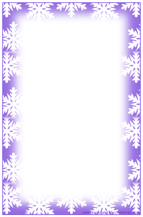 FREE Printable Christmas Snowflake Writing Paper