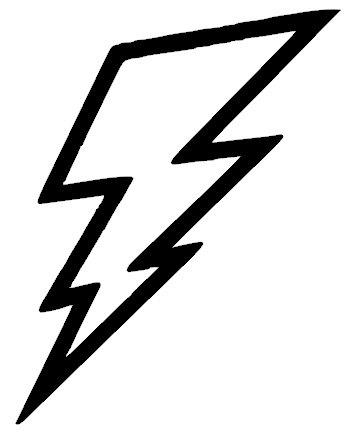 5 Inch Lightning Bolt Vinyl Decal Sticker By