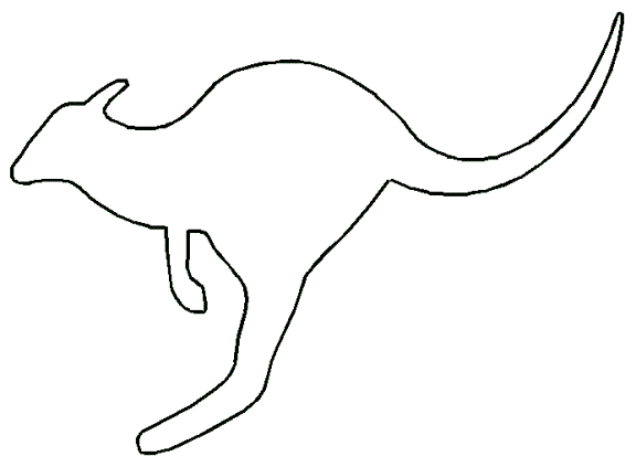 Line Drawing Kangaroo : Kangaroo jumping outline