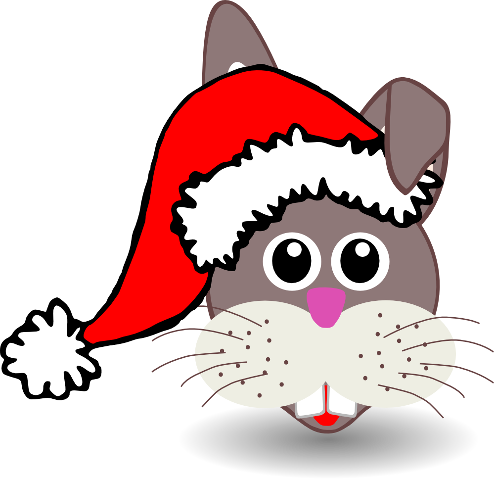 ... face c oon with santa hat xmas ... - ClipArt Best - ClipArt Best