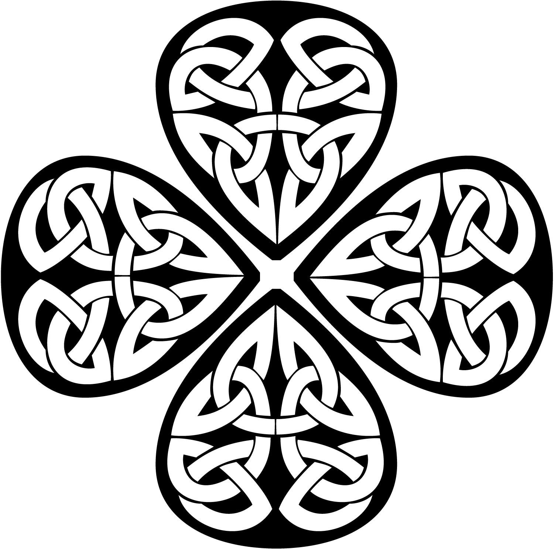 Celtic Cross With Shamrock Celtic knot shamrock