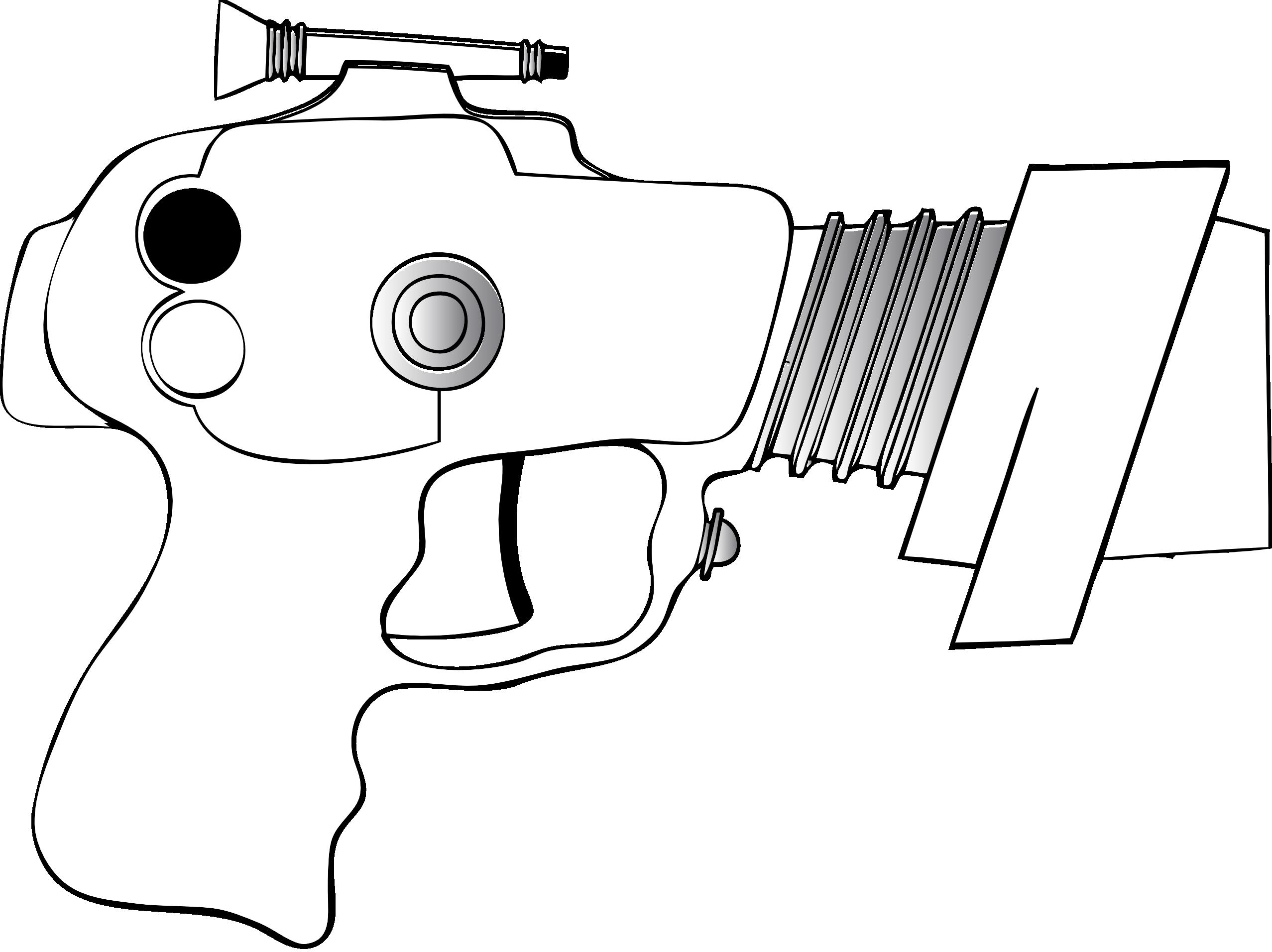 Line Art Gun : Black and white art pictures clipart best