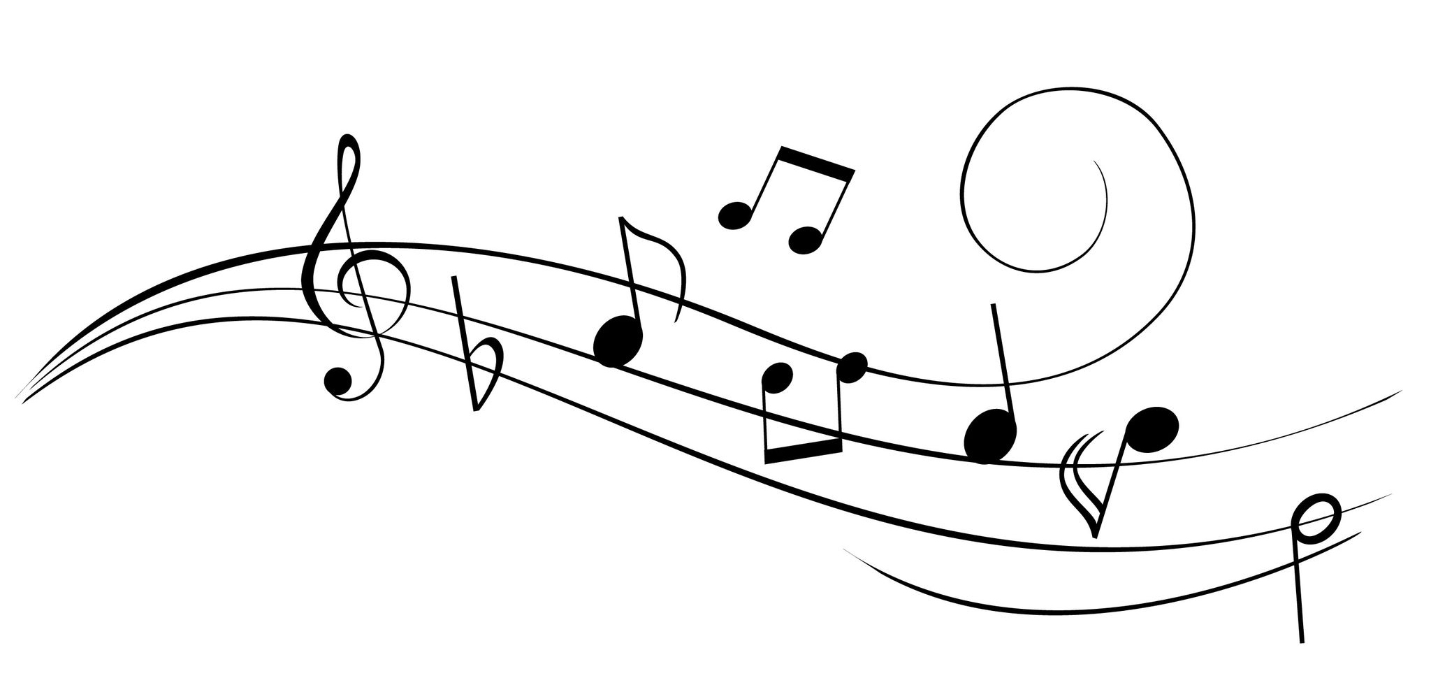 Line Art Music Notes : Music notes drawings clipart best
