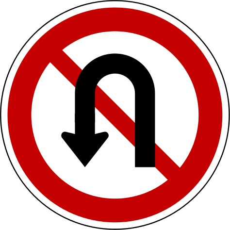 korea traffic safety sign regulate 216 no uturnsvg