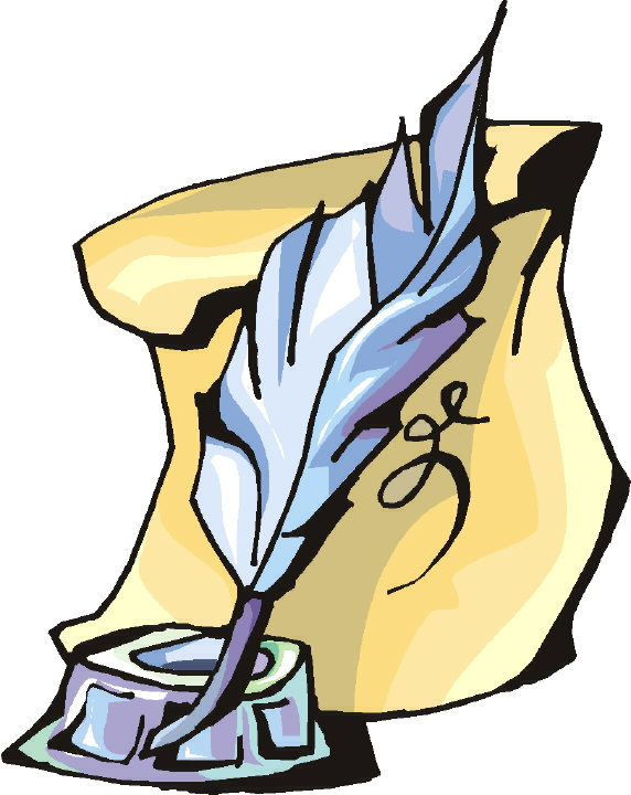 quill and paper clipart - photo #6