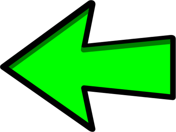 clipart arrow pointing left - photo #17