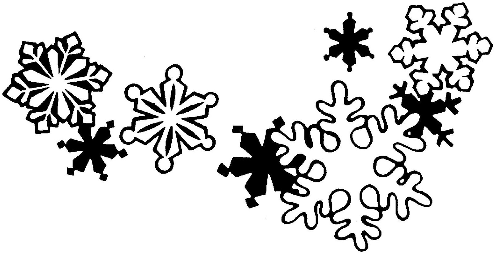 Black And White Christmas Borders - ClipArt Best