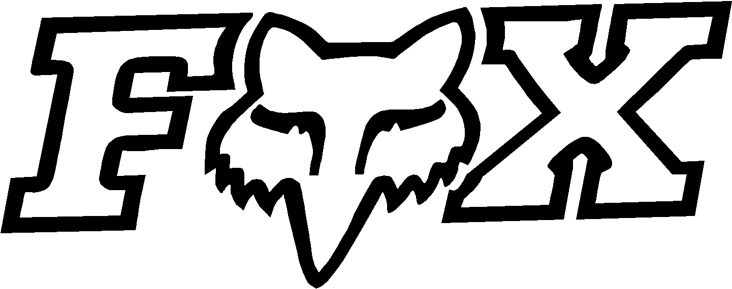 Logo fox racing hd clipart best for Dude perfect coloring pages