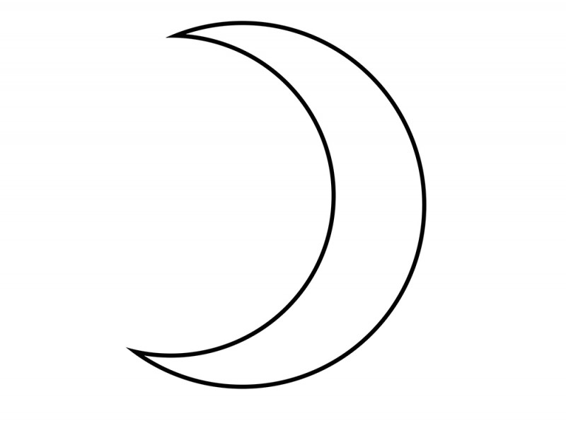 Image Gallery Moon Outline