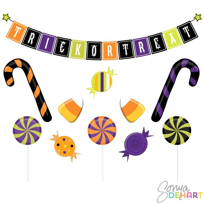 Halloween Candy Clip Art Clipart Best