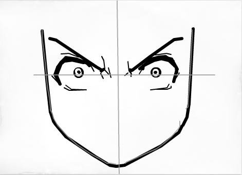 angry anime face drawing - photo #29