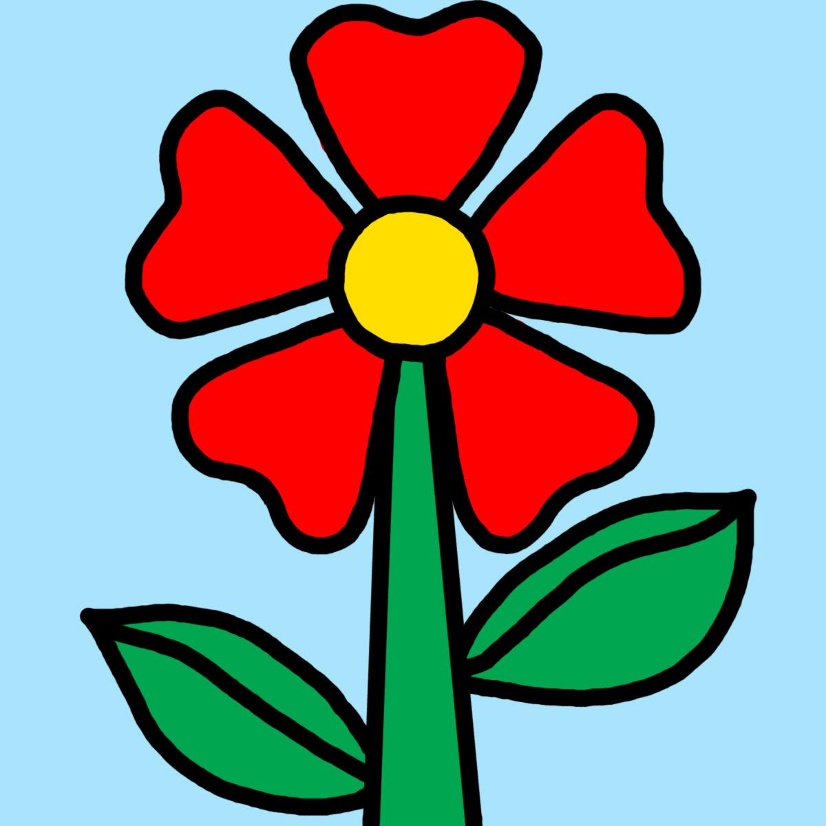 Single Flower Cartoon - ClipArt Best