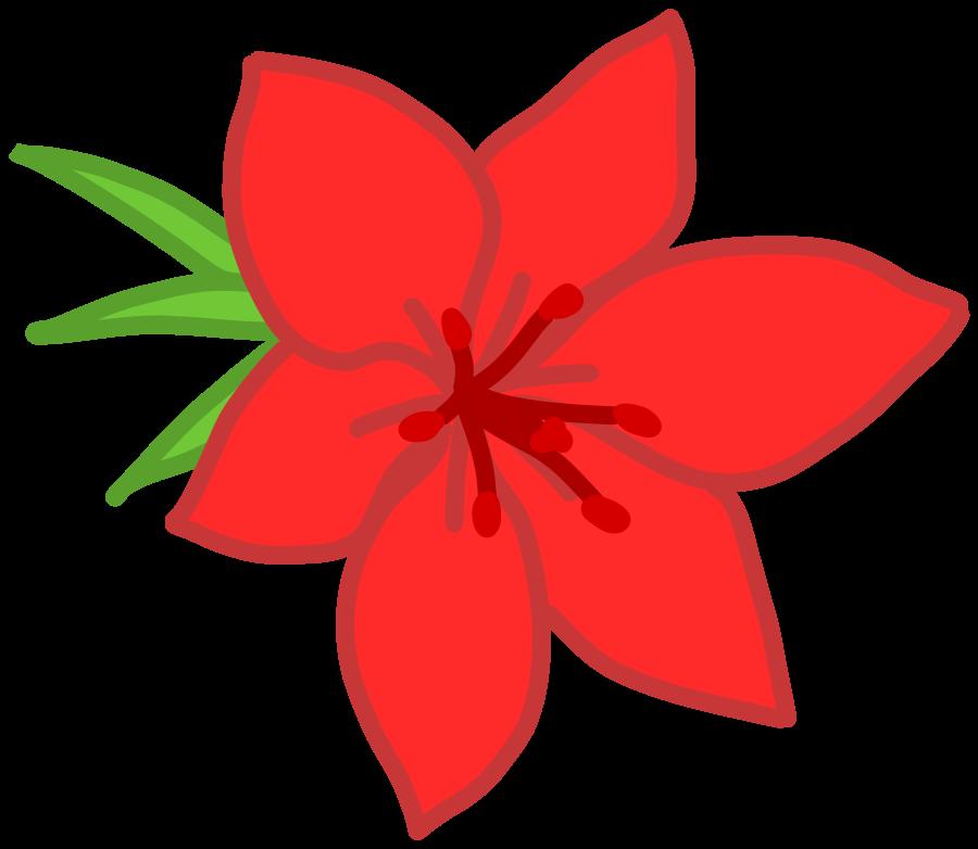 Red Flowers Clip Art - ClipArt Best