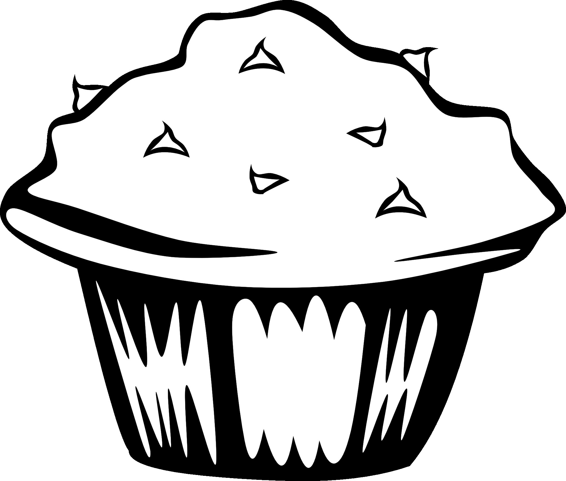 free black white food clipart images - photo #30