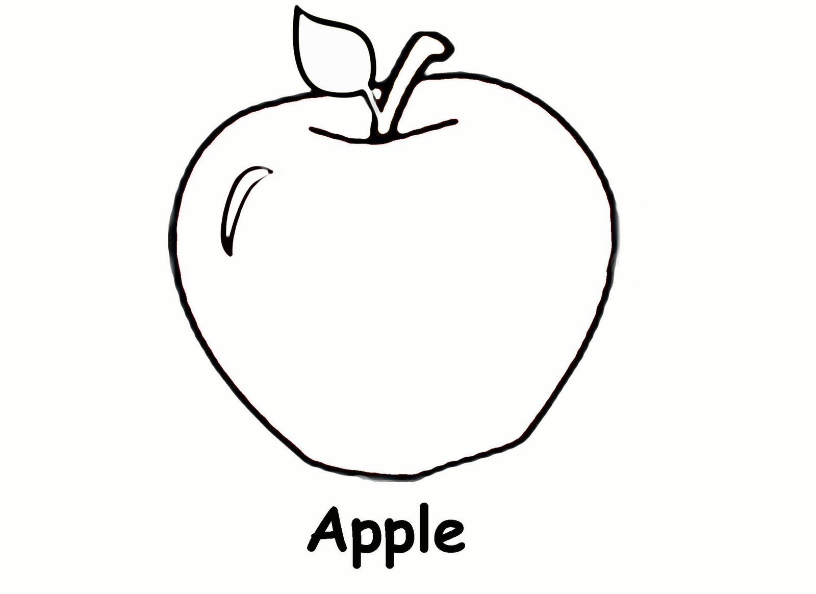 Apple Computer Coloring Pages : Apple to color clipart best
