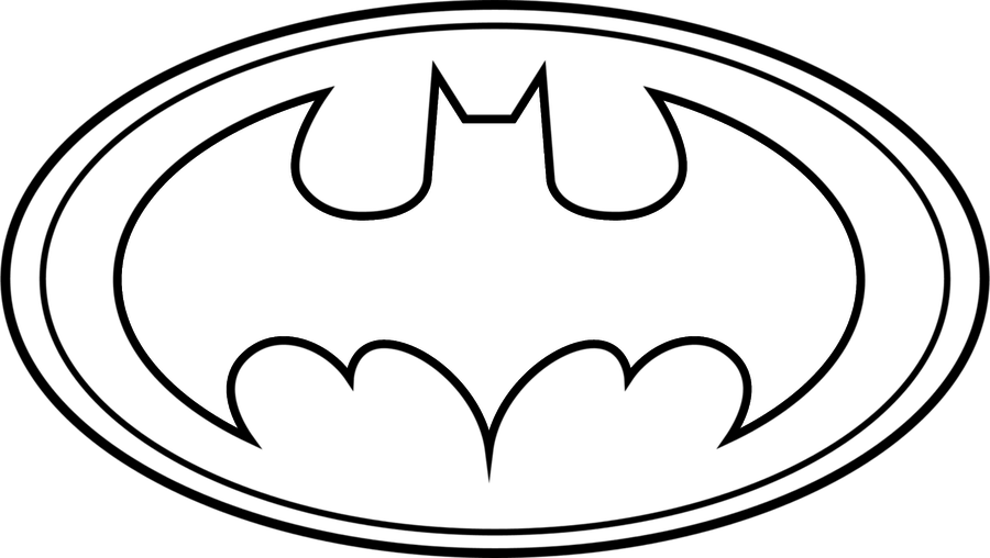 Original batman symbol outline clipart best Batman symbol