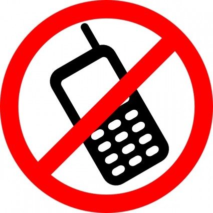 Clipart no cell phone sign