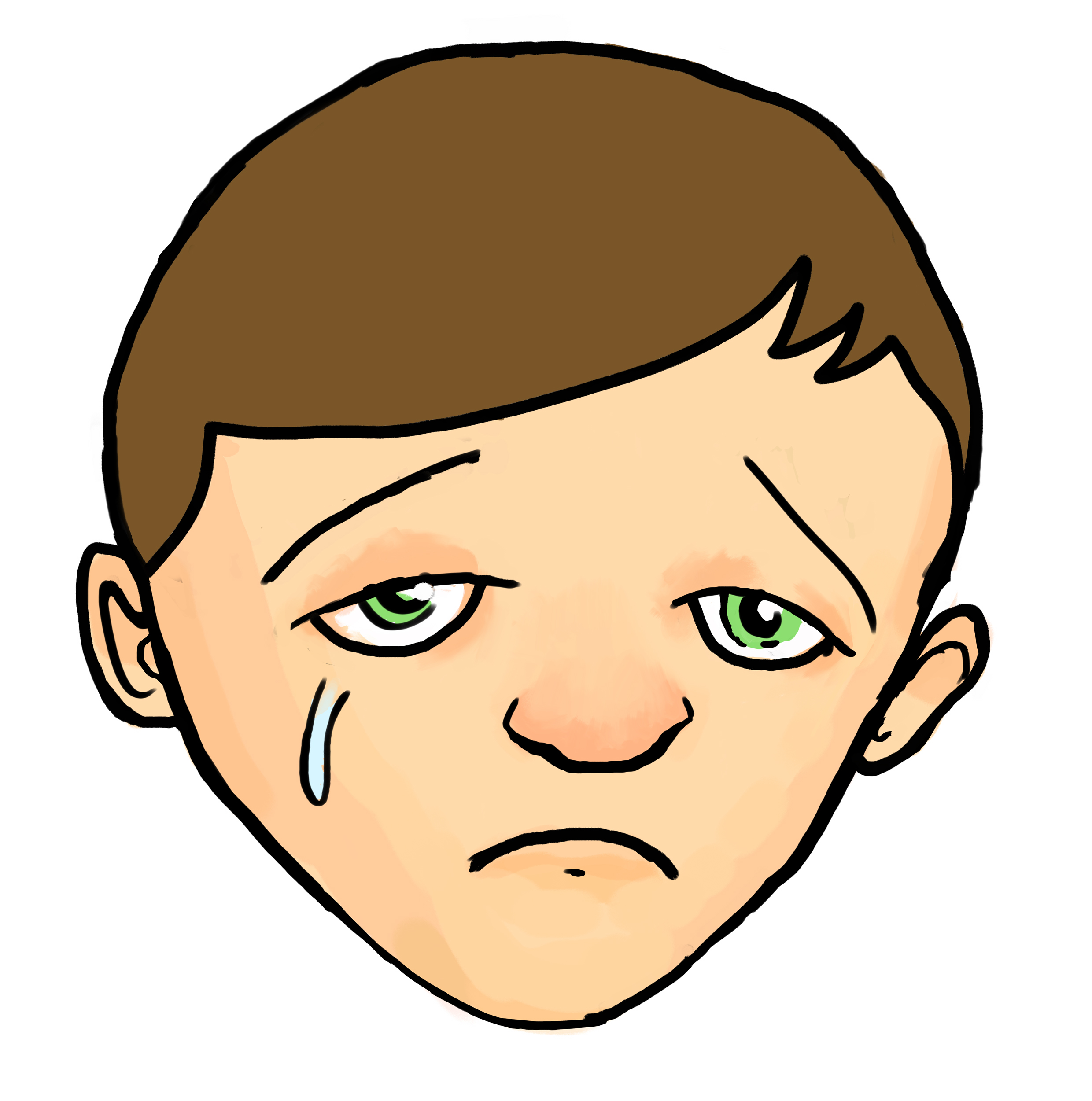 Line Drawing Of Sad Face : Drawings of sad faces clipart best