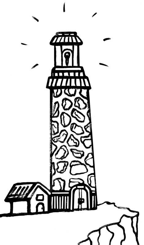 beach house coloring pages - light house clipart clipart best