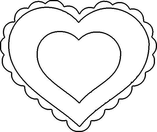 Heart template clipart best for Hellcat coloring pages