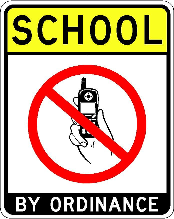photograph relating to No Cellphone Sign Printable identified as Printable No Cellular Telephone Indicator - ClipArt Least difficult